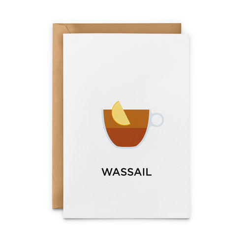 Wassail Mulled Cider Cocktail Greeting Card