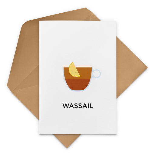 Wassail Mulled Cider Cocktail Christmas Card