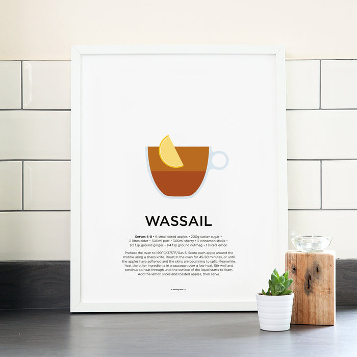 Wassail cocktail poster