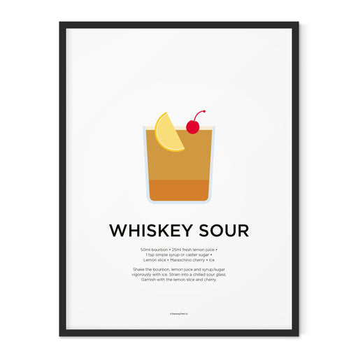 Whiskey Sour cocktail art print