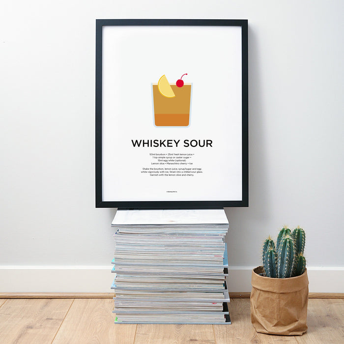 Whiskey Sour cocktail wall art