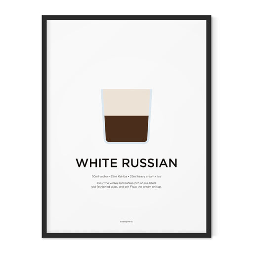 White Russian cocktail art print
