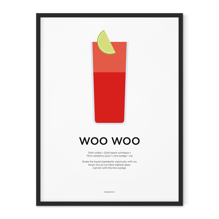 Woo Woo cocktail art print