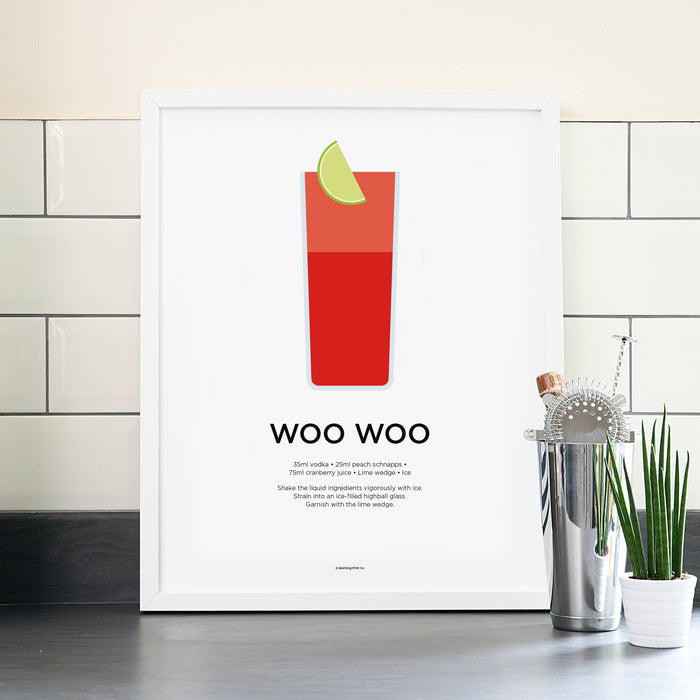 Woo Woo cocktail poster