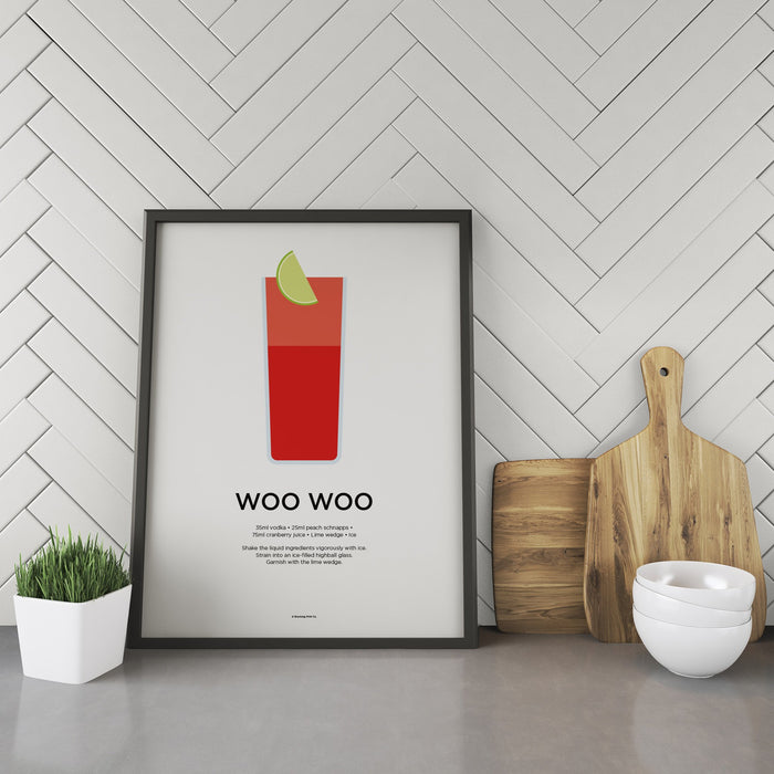 Woo Woo cocktail recipe print