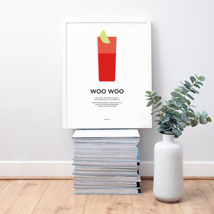 Woo Woo cocktail wall art