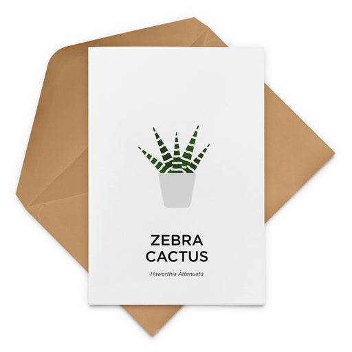 Zebra Cactus Greeting Card
