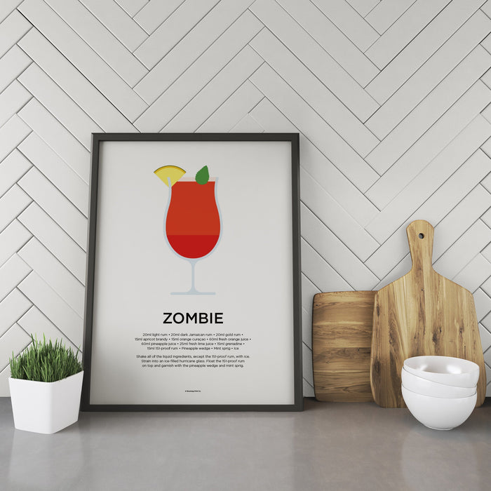 Zombie cocktail recipe print