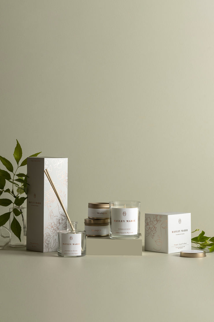 Tranquil Print & Candle Bundle - 002