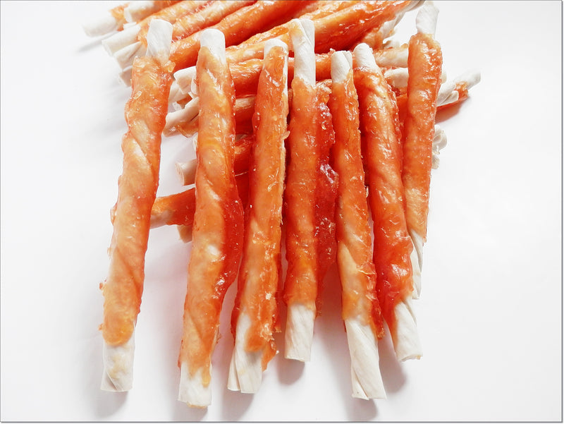 G011 Dried Beef Rawhide Sticks with Chicken Breast