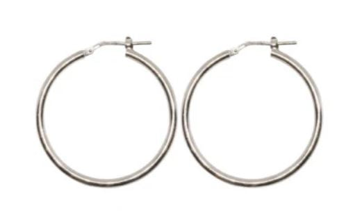 30mm Sterling Silver Gypsy Hoop Earrings - Mandi at Home