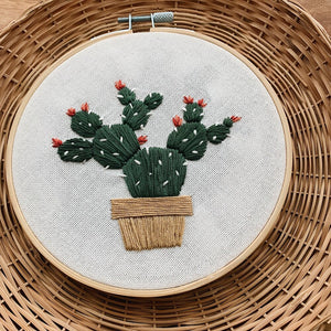 Cacti Embroidery Kit - Poppyseed Creative - Mandi at Home