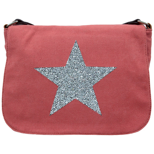 Star Canvas Cross Body Bag - Russet - Mandi at Home