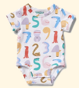 Animals Counting - Short Sleeve Body Suit - Mandi at Home