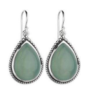 NAJO - Aqua Chalcedony Teardrop - Mandi at Home