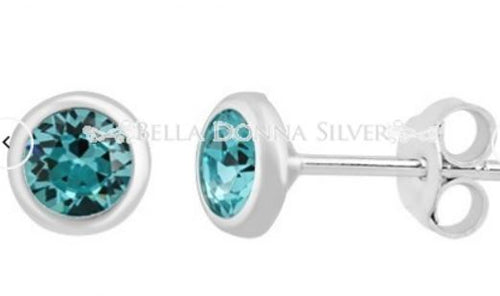 Aqua Swarovski Studs - Mandi at Home