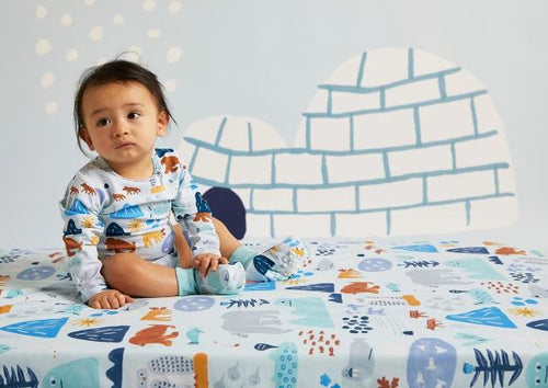 Arctic Park Fitted Cot Sheet - Mandi at Home