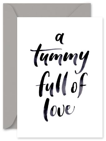Tummy Full of Love - Little Hoothoot Card - Mandi at Home