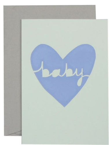 Baby Heart Card  - Lavendar on Mint Card - Mandi at Home