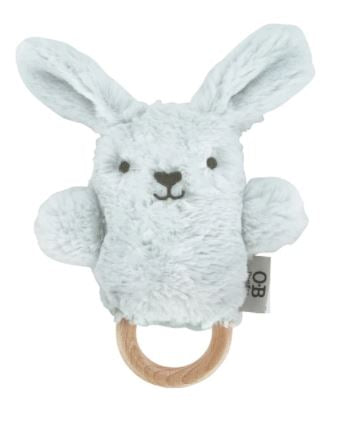 Baxter Bunny Wooden Teether - O.B. Design - Mandi at Home