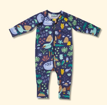 Beach Forest - Long Sleeve Zip Suit - Mandi at Home