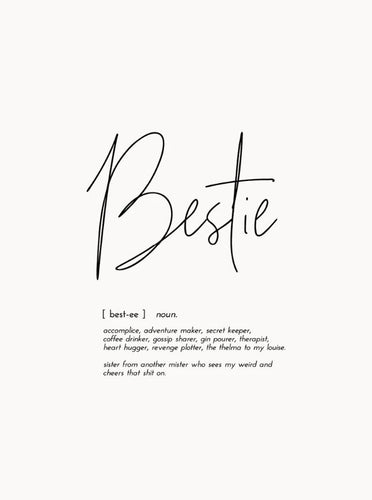 Word Print - Bestie - Mandi at Home