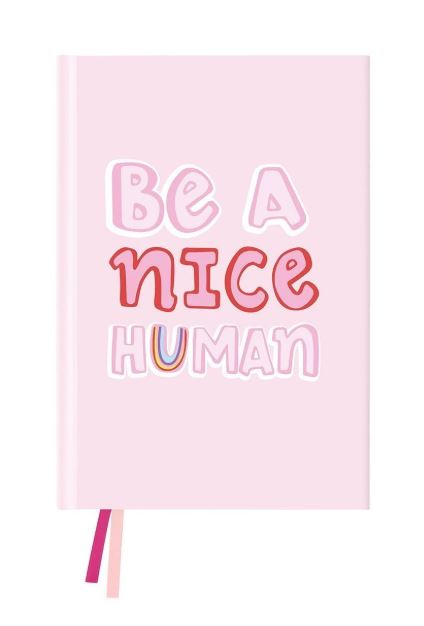 Be A Nice Human Journal - Blushing Confetti - Mandi at Home