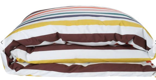 Big Stripe Cotton Quilt Cover - Single - Mandi at Home