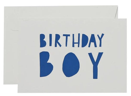 Big Birthday Boy Card  - Blue and White - Mandi at Home