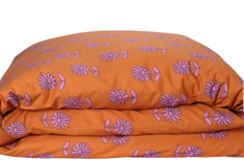 Bloom Rust Cotton Quilt Cover KS/Double - Kip & Co - Mandi at Home