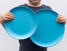Load image into Gallery viewer, bobo&boo bamboo adult plate set – Coastal Multi - Mandi at Home