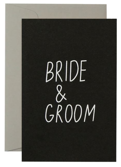 Bride and Groom - White on Black - Mandi at Home