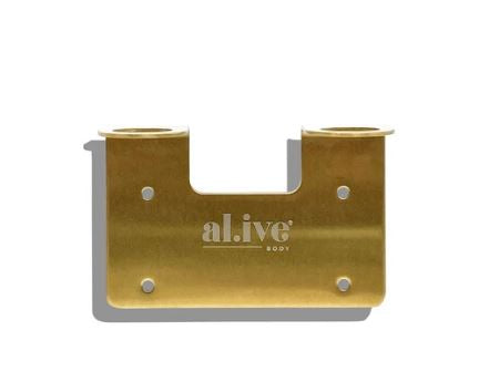 Double Wall Holder - Brushed Gold - Mandi at Home