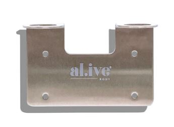 Double Wall Holder - Brushed Nickel - al.ive body - Mandi at Home
