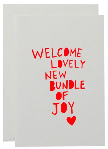 Bundle of Joy Card- Neon Coral on White - Mandi at Home