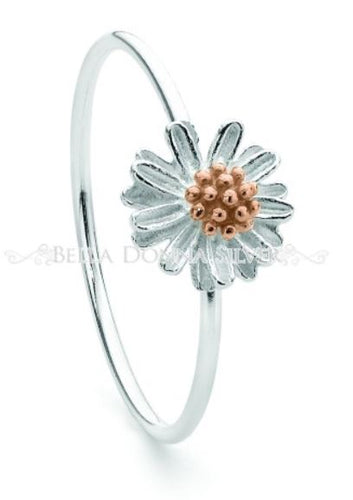 Rose Gold Chamomile Ring - Mandi at Home