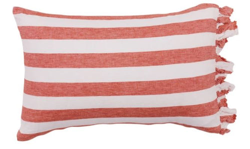 Society of Wanderers - Cherry Stripe Standard Pillowcase Set