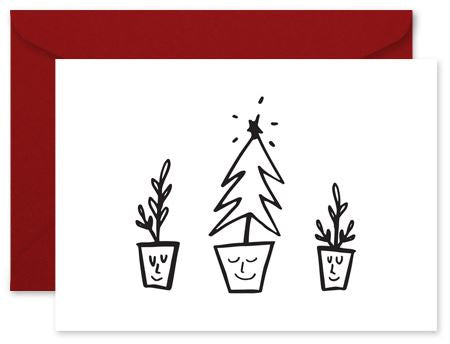 Christmas Trees - Little Hoothoot Card - Mandi at Home