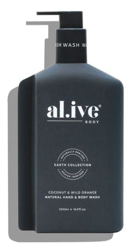 AL.IVE - HAND & BODY WASH - COCONUT & WILD ORANGE
