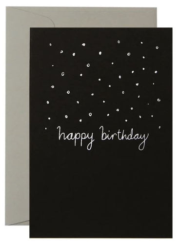 Confetti  Birthday - White on Black