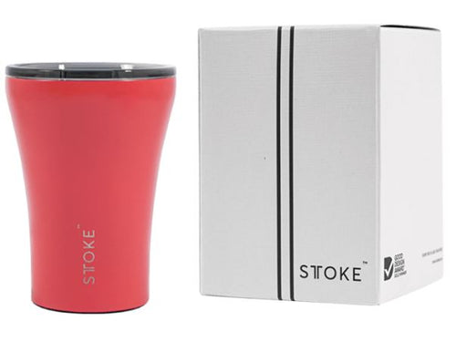 Sttoke Ceramic Reusable Coffee Cup - Coral Sunset 12oz/354ml - Mandi at Home
