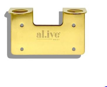 Double Wall Holder - Gold - Mandi at Home
