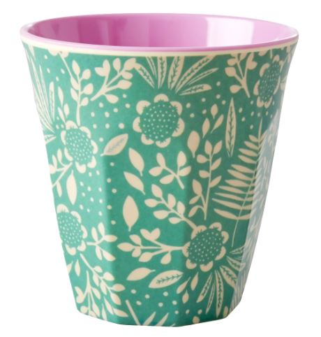 RICE - Medium Melamine Cup in Fern & Flower Print. - Mandi at Home