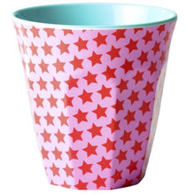 Load image into Gallery viewer, RICE - Medium Melamine Cup in Pink Star Print. - Mandi at Home