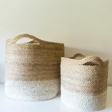 Load image into Gallery viewer, Tutul Two-Tone Basket - Small - Mandi at Home