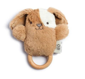 Duke Dog - Wooden Teether and Rattle - Mandi at Home