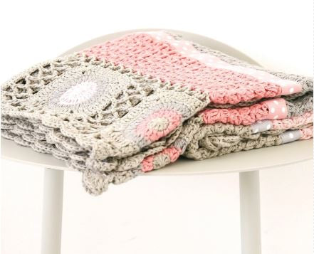 Hand Crochet Blanket - Dusty Pink - And The Little Dog Laughed - Mandi at Home
