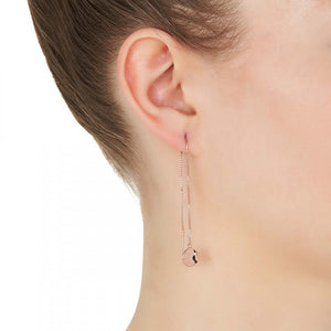 NAJO - Double Beat Thread Earring Rose Gold Plated Silver - Mandi at Home