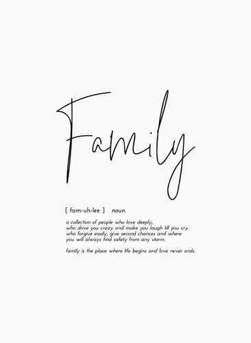Word Print - Family - Mandi at Home