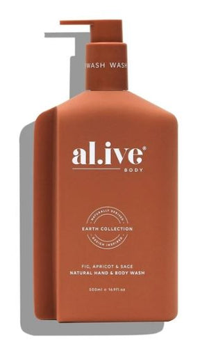 ALIVE BODY- HAND AND BODY WASH - FIG, APRICOT & SAGE